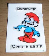 Comic Figur Schlumpf Softsticker Oberschlumpf Peyo SEPP Rarität