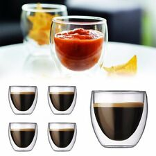 80ML Glass Double Wall Transparent Coffee Cups Insulate Office Tea Mugs