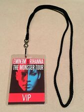 RIHANNA EMINEM MONSTER TOUR VIP ALL ACCESS MEET & GREET BACKSTAGE PASS W LANYARD