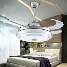 144 LED Remote Ceiling Fan Light Warm cool white 3 speed wind Bluetooth speaker