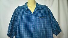 Mens Shirt, Plaid / Check, Size XL, Short Sleeves