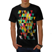 Wellcoda Geometric Stylish Mens T-shirt, Abstract Graphic Design Printed Tee
