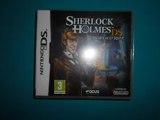 18.2.11.12 Sherlock Holmes Le secret de la reine Nintendo jeu DS FR notice