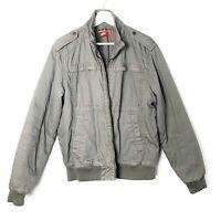 Topman Mens Green Bomber Jacket Coat Size Large