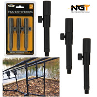NGT Rod Pod Extenders For Buzzbars Bankstick Carp Fishing Set Of 3 Adds 4.5 - 7""