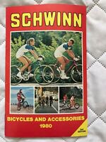 1980 2ND EDITION SCHWINN BICYCLE & ACCESSORIES CATALOG BOOK ROAD STING BMX