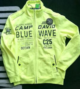 Brandneu Camp David Sweatjacke neon lime Jacke M L XL XXL 2XL XXXL 3XL Neu