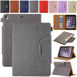 For iPad Mini Air Pro 5th 6th 7th 8th Gen Smart Leather Wallet Stand Case Cover