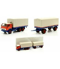 KAMAZ 53212 WITH TRAILER ORANGE/BLUE 1:43
