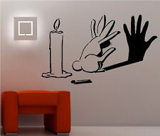 Hasen Lichtspiel Kerze Hase workout Wandtattoo Wallpaper Wand Schmuck 60 cm