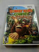 DONKEY KONG Country Returns Nintendo Wii Complete w/ Manual TESTED Clean