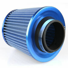 Car Blue Air Intake Filter Induction Kit High Power Sports Mesh Cone New General