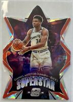 2019-20 Contenders Optic #4 Giannis Antetokounmpo Superstar Silver Prizm Die Cut