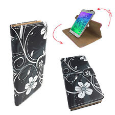 Cubot Note S - Handy Schutz Etui Tasche - 360° L Schwarze Blume