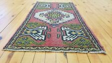 "Beautiful Antique  Wool Pile Natural Dye  Tribal Area Rug 1'9""×3'1"""