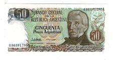 ARGENTINA REPLACEMENT NOTE 50 PESOS ARGENTINOS Seri A prefix R  P#323bR - B#2620