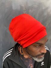Rasta Turban Rasta tam bright red Turban Locsoc man turban Rasta hat t