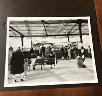 Vtg Photograph- Passengers Waiting To Board American Airlines DC-3 Flagship