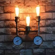 Vintage Industrial Steampunk Water Tube Wall Light Lamp Loft Metal Edison Sconce