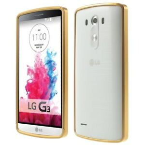 Aluminium Alloy Bumper Metall Slide Frame Schutz Hülle Rahmen Gold für LG G3