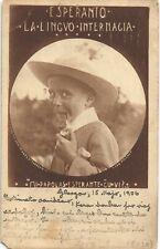Glasgow Esperanto Agency, Garthland Street. Boy & Pipe by S&W, Glasgow.