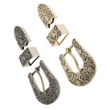 2 Set Zinc Alloy Pin Buckle for Women Leather Belt Making Spare Replacement