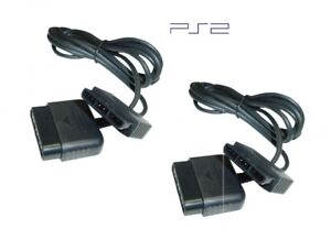 Set of 2 New Controller Cord Extensions for Sony PlayStation or PS2 (6 feet)