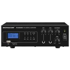Monacor Pa-802usb Mono PA Mixing Amplifier 100v / 8ohms