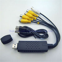 Easycap 4 Channel USB 2.0 TV DVD DVR Video Capture Adapter with USB Cable