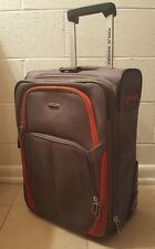 Vintage Polo Sport Ralph Lauren Rolling Carryon Luggage Gray Orange Suitcase  22