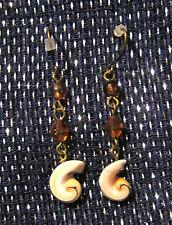 style with ear like beads Unusual earrings of a drop