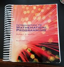 Introduction To Mathematical Programming Fourth Edition by Russell C. Walker
