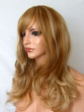 Curly Women Fashion Fringe Brown Blonde Full Head real Natural Ladies Wig A23
