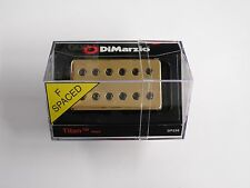 DiMarzio F-spaced Titan Neck Model Humbucker W/Gold Cover & Black Poles DP 258