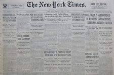 4-1934 April 23 DILLINGER SURROUNDED WISCONSIN GANGSTER MOBSTER HOOVER NY TIMES