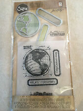 Sizzix Tim Holtz Die Embossing Folder & Clear Stamp Set The Journey NEW