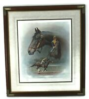 "FRED STONE ""Forego"" Limited Artist Signed Print Number 72/1150 Framed"