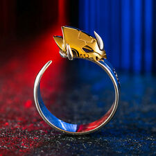 Digimon Digital Monster  925 Sterling Silver Omegamon Ring Cosplay #8-#10.5