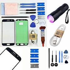 Black Samsung Galaxy S7 G930 Front Glass Screen Replacement Repair Kit+UV Light