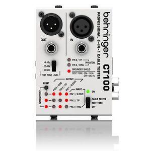 Cable Tester Behringer CT100 XLR 6.35 Jack RCA MIDI 3.5 Jack NEW DMX PA AV