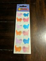 Sandylion SEALIFE OCEAN SEA Glitter  Stickers Vintage Rare Discontinued