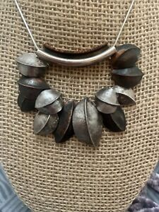 One-of-a-kind Stunning Artist Made Sterling Silver And Copper Necklace.