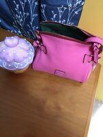 Dooney And Bourke Pink Mini Florentine Zip Crossbody EUC