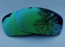 POLARIZED GREEN CUSTOM MIRRORED REPLACEMENT OAKLEY SQUARE WHISKER LENSES