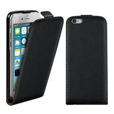 kwmobile Flip Schutz Hülle für Apple iPhone 6 6S Schwarz Tasche Kunstleder Case