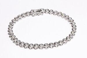 Echtes 925/Sterlingsilber Tennis Zirkonia Armband Ketten Braut Statement Glieder