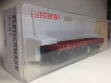 Fleischmann 5281 Two Plank Long Wheel Bade Railway Wagon HO Train Sealed Box New