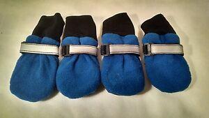 Guardian Gear WEATHERIZED FLEECE Dog BOOTS FOOTWEAR SHOES XXXS, XS Blue