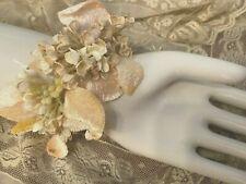 VINTAGE MILLINERY 1940's Silk Velvet Leaves Cotton Flowers 1 Spray Bouquet JAPAN
