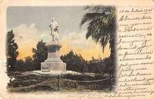Buenos Aires Argentina view of Eduardo Costa monument antique pc Y10943